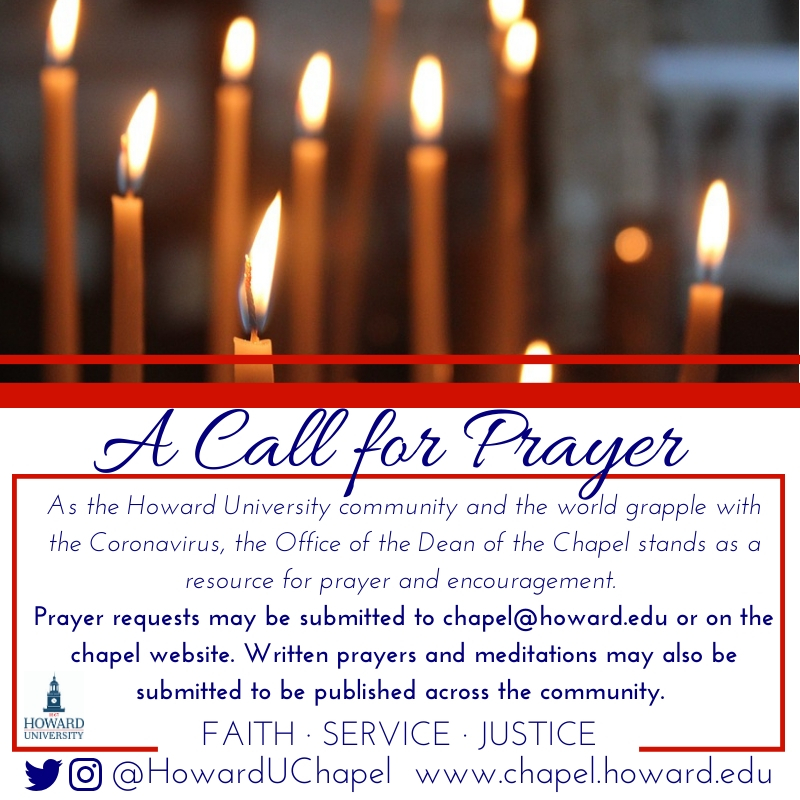 Chapel, Prayer Request, Howard University, Andrew Rankin Memorial Chapel, Faith Service Justice