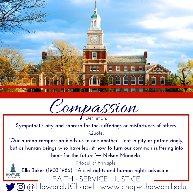 Compassion, Howard University, Andrew Rankin Memorial Chapel, Faith Service Justice, FSJ, Leader, Howard University